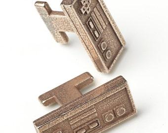 Nintendo Controller metal cuff links