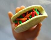 Polymer Clay Mini Taco :D - 18 inch doll sized