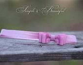 headband, headband for girls, baby headband, infant headband, dusty pink
