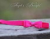 one baby headbands in hot pink