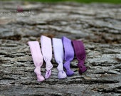 Lilac collection, set of 5 hair ties