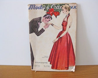 1950s French magazine fashion and home December Christmas New Year edition