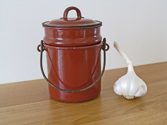 French enamel lunch pail gamelle