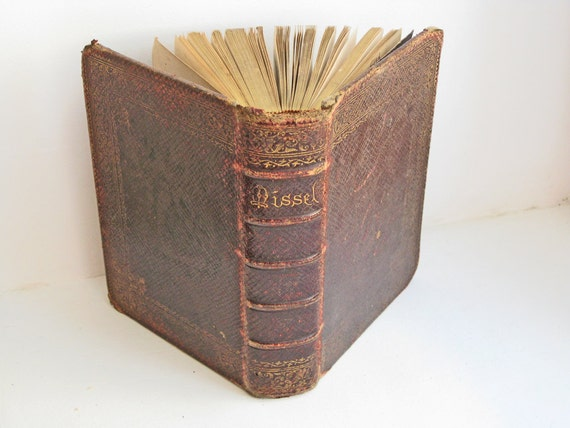 antique French leather bound missel