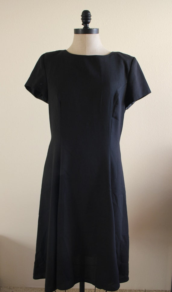 Vintage Plus Size Black Dress Leslie Fay