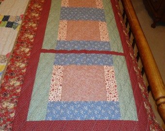 28 1/2 inch  x 73 1/2 inch Quilted Bed Runner