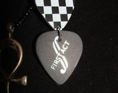 Black chain w/ ANK and guitar picks (105)