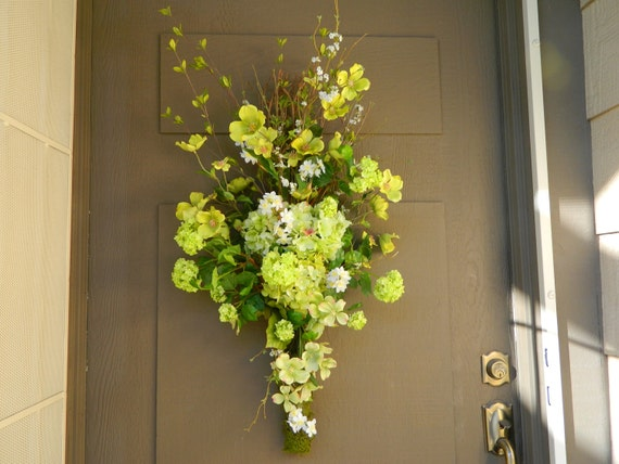 Wreath Spring Vertical Swag Front Door Wreath Easter Wreath Decor