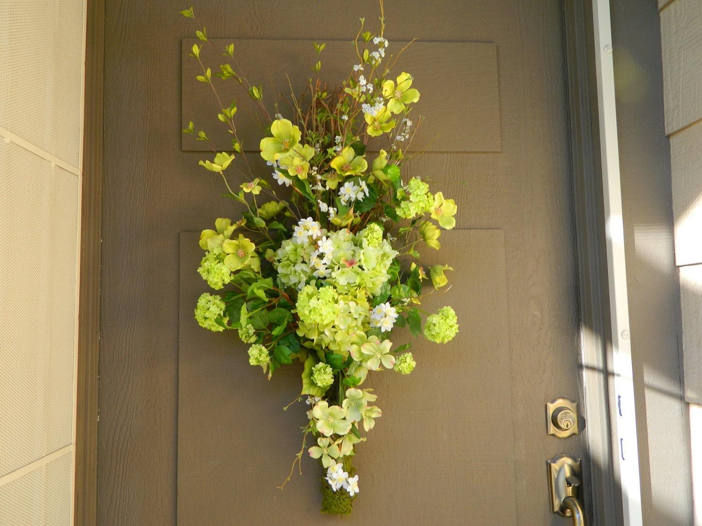 Wreath Spring Vertical Swag Front Door Wreath Easter Wreath