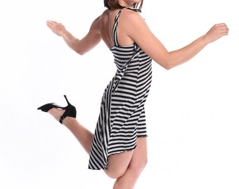 Stripes and Ruffles Tango Dress