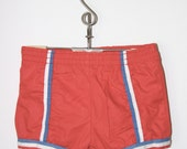 Vintage red swimming shorts for boy or girl