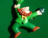 Vintage Dancing Irish Leprechaun Lapel Pin made by Hallmark - Perfect for St Patrick's Day