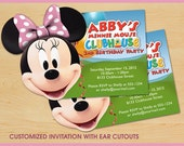 Minnie Mouse Clubhouse Birthday Invitations CUSTOM