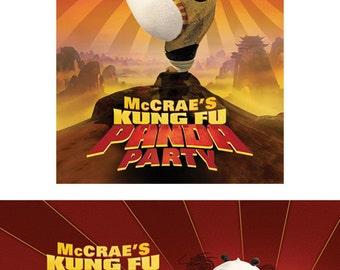 Kung Fu Panda Birthday invitation invites, CUSTOM