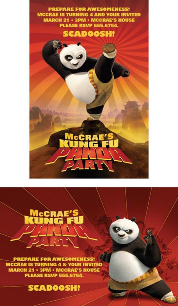 Kung Fu Panda Birthday invitation invites CUSTOM