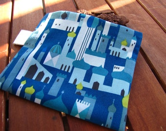 Reusable Snack Bag with Velcro Closure: Arabian Blue