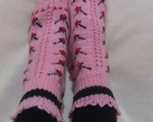 30% Off Sale Pink Knitting Wool Home Socks