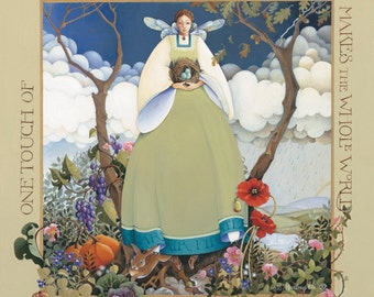 archival reprint nature angel lithograph painting