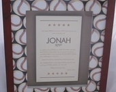 Framed Bar Mitzvah or Bat Mitzvah Invitation - MADE TO ORDER