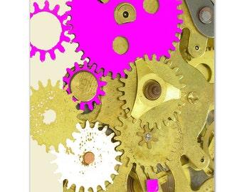 "Antique Clock gears - ART Print 8"" x 10"""