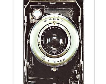 "Smile- Vintage Camera - ART Print 8"" x 10"""