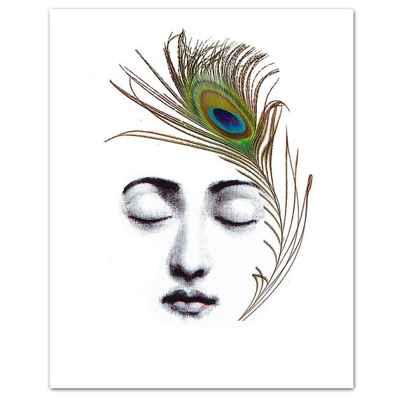 """The Peacock Feather - ART Print 8 x 10"""""""