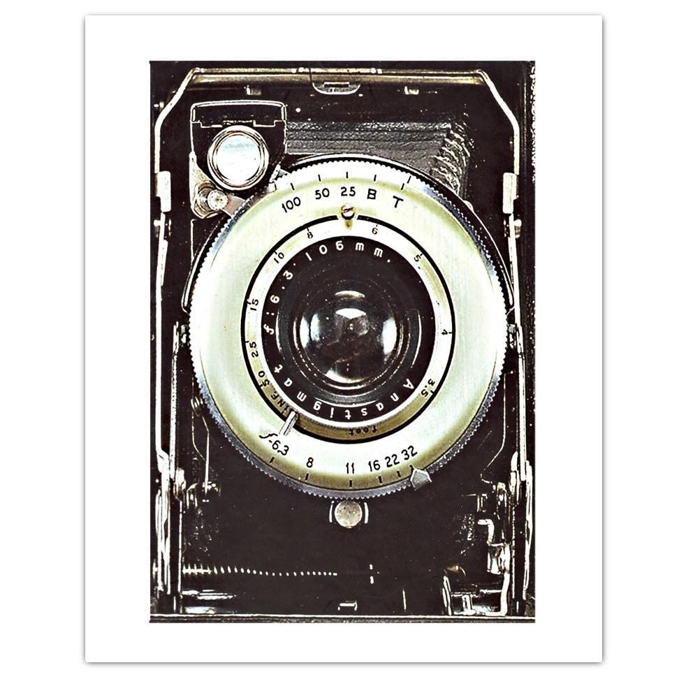 Smile Vintage Camera Art Print 8 X 10
