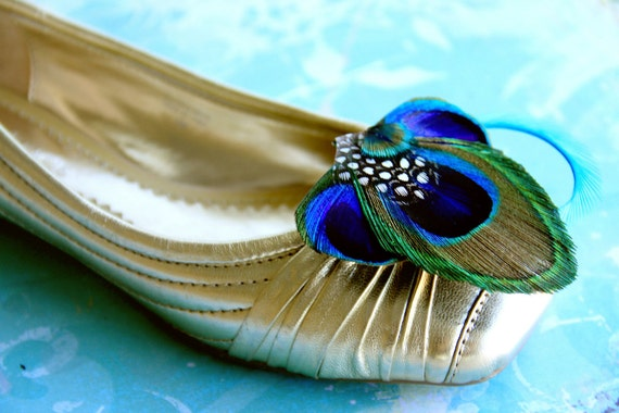 ELSIE Peacock Shoe Clip, Couture Wedding