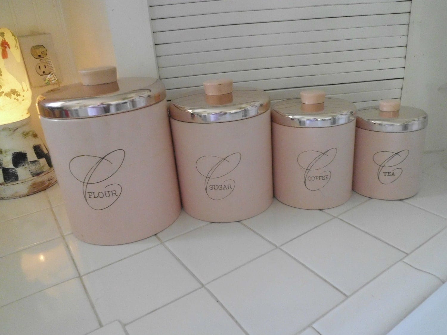 pink canisters kitchen retro pink canister set 14554
