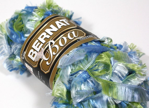 Yarn Sale Bernat Boa Novelty Yarn 30% Off Mocking Bird Blue Green Multi