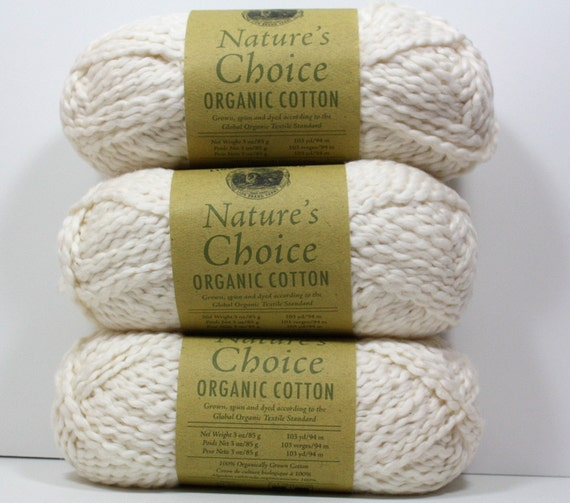 Organic Cotton Yarn Sale - Lion Brand Natures Choice - One Skein in Almond - 20% Off