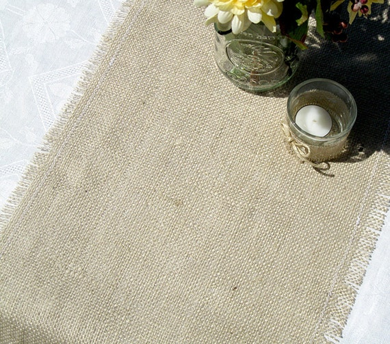 Items similar to rustic burlap wedding table runner 120 for 120 inch table runner