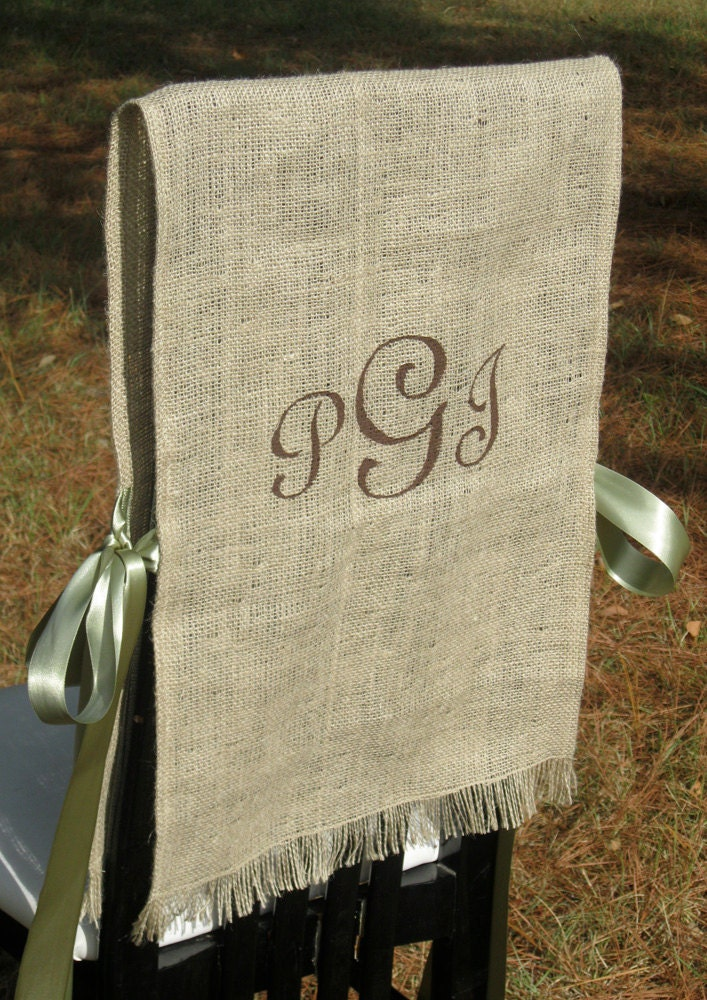 Burlap Bride And Groom Chair Covers Rustic By SplendidEvents