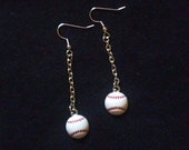 First Pitch Baseball Earrings