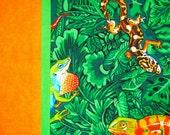 Green/Orange Reptile Pillowcase