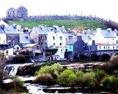 Ireland Village 8 x 10 Fine Art Photography of the dead watches over thee Irish