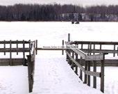 Ice Fishing Minnesota 8 x 10 FINE ART Photograph Winter Life Hibbing Minnesota Iron Range Bob Dylan Home Town Up North