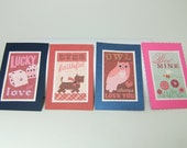 Sparkly Valentine's Day Cards, Set of 4