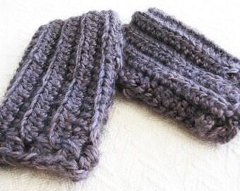 Crochet Pattern Fingerless Gloves - Crossed Cuffs