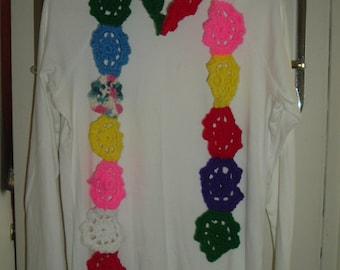 Muti colored floralfashion scarf