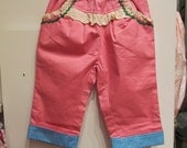 Pink and Blue Girl Kids Stretch Satin Cotton Shorts