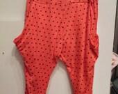 100% Girl Kids Cotton Knit Orange Red  Star Print  Shorts ( Wholesale )