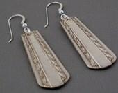 recycled silverware handle earrings