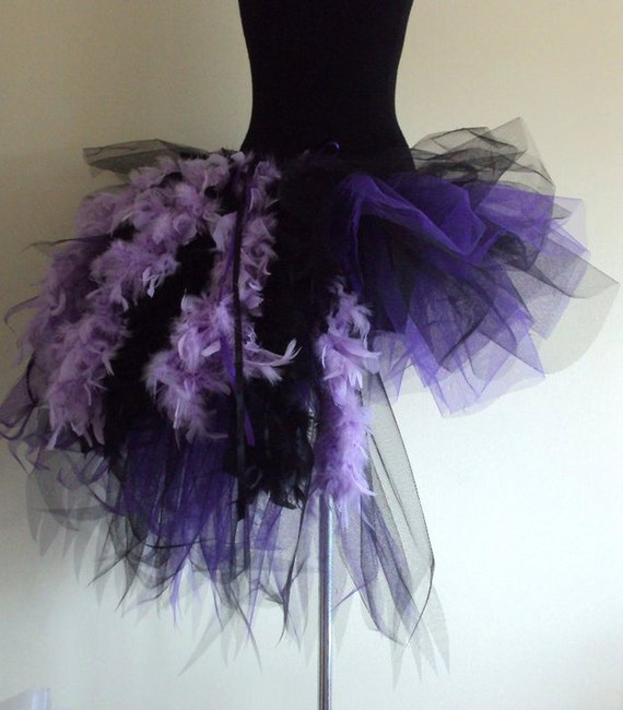 Purple Black Burlesque tutu skirt size