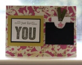 card, just for you card, tab