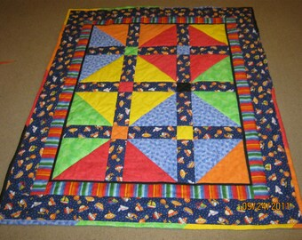 The Quick Gift Quilt Pattern (Small Child Version) - Beginner - Quarter-Inch Seams