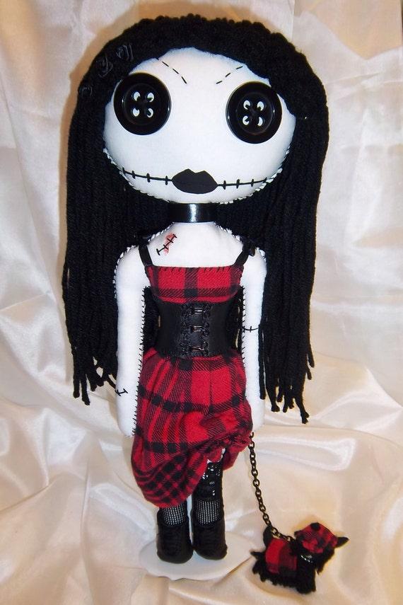 Scottish inspired, gothic doll