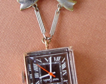 Art Deco Marcel Boucher Lapel Watch Bow Pin