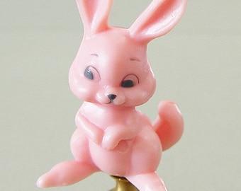 Large Pink Easter Bunny Rabbit Lamp Finial