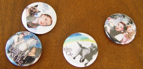 Set Of Four Wizard Of Oz Magnets